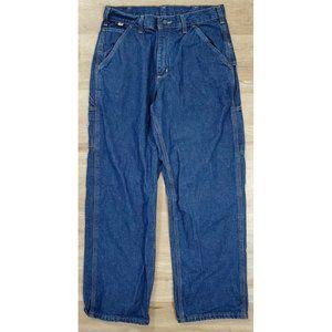 Carhartt Men Flame Resistant Dungaree Blue Jeans